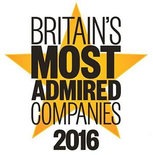 2016年度英国受尊敬的公司