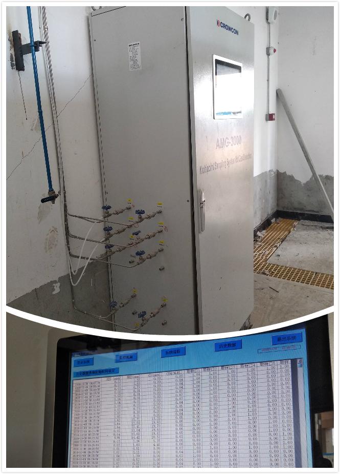 科尔康为某垃圾发电厂设计的气体采样监测系统