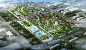 污水厂全貌鸟瞰图